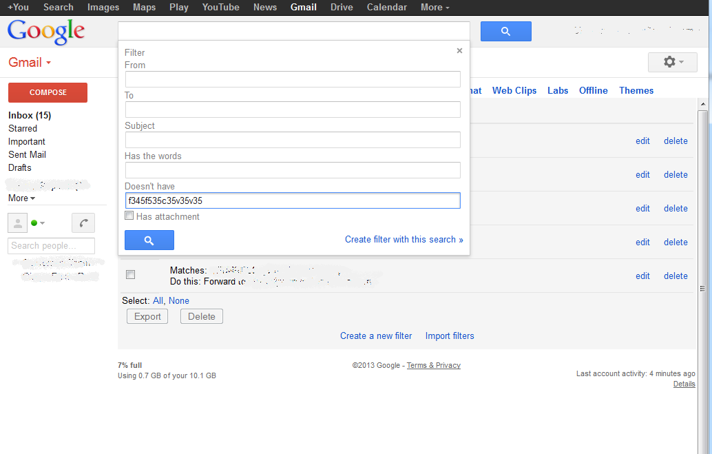 how to find a gmail filter